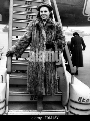 Actress Eva Bergh arriving for her premiere of 'The Long Memory' - Stock Photo