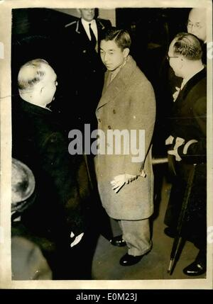 Apr. 04, 1953 - JAPANESE CRONWN PRINCE ARRIVES IN LONDON CROWN PRINCE AKIHITO of Japan, who is at the represent - Stock Photo