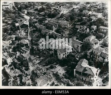 Aug. 08, 1953 - Greek Earthquake Disaster Latest Pictures: Six days after shocks, Argostoli capitol of the Greek - Stock Photo