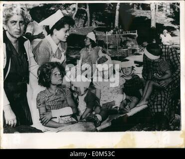 Aug. 08, 1953 - Greek earthquake disaster latest pictures. Six days after the first shocks, Argostoli, capitol of - Stock Photo