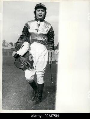 Oct. 10, 1953 - The Newmarket Town Plate: The only horse race in women can become jockeys - The Newmarket Town Plate - Stock Photo