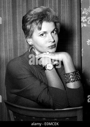 Portrait of actress Eva Bartok - Stock Photo