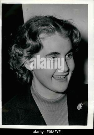 Jan. 01, 1955 - German Envoy to London recalled daughter will keep home: Herr Oskar Schlitter the German charge - Stock Photo