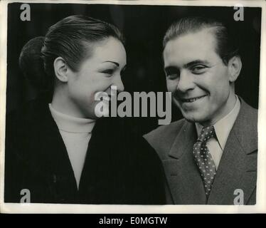 May 05, 1955 - Man Finds His Girl in City Among 50 Million People... Seppel Meisterling of Frankfurt, Germany - - Stock Photo