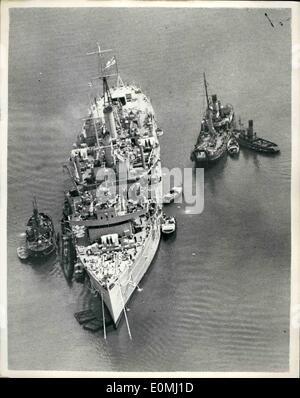Jun  06, 1955 - Thirteen lost when submarine sinks after explosion
