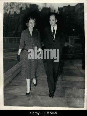 Dec. 12, 1955 - Lady Anne Coke To Marry Mr. Colin Tennant. Friends Of Princess Margaret: The engagement was announced - Stock Photo