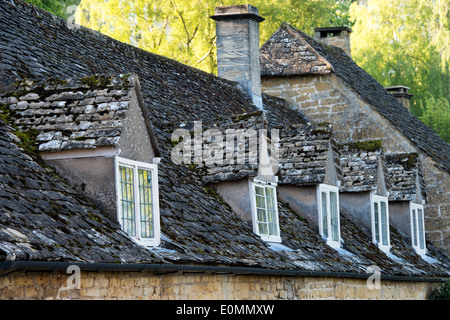 Old Cotswold Stone Tiled Roof With Dormer Windows