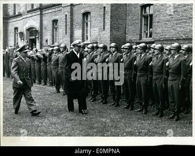 Apr. 30, 1956 - Admiral Radford is the Chairman of the Joint Chiefs of Staff of the American Armed Forces. He arrived - Stock Photo