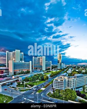 Donaucity, Wien, Österreich - Danube city, Vienna, Austria - Stock Photo