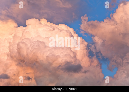 Wolken am Himmel - Clouds in the sky - Stock Photo