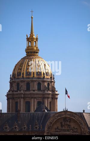 Dome des Invalides at Esplanade des Invalides, Paris, France - Stock Photo