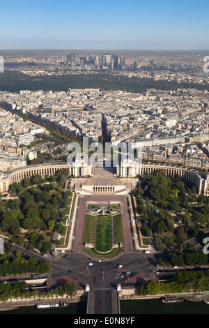Aussicht vom Eiffelturm, Frankreich - Vista from Eiffel Tower, France, Paris - Stock Photo