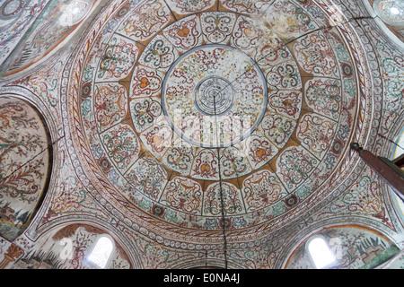 painting inside Et'hem Bey Mosque, Tirana, Albania - Stock Photo