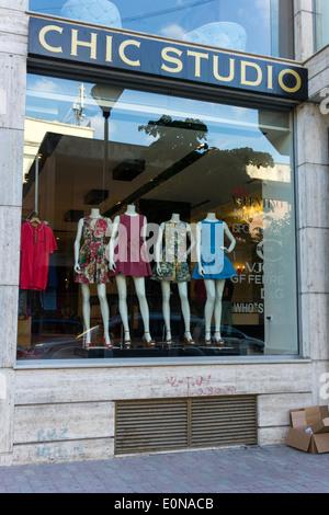 Chic Studio luxury brand clothing store, Blloku district, Tirana, Albania - Stock Photo