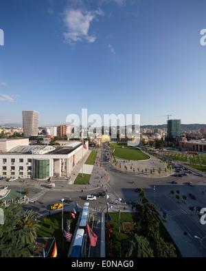 Skanderbeg Square, Tirana, Albania - Stock Photo