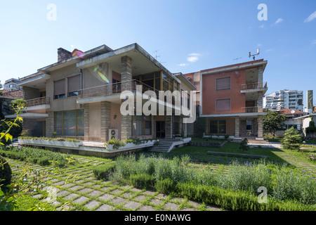 Former Residence of Enver Hoxha, Blloku District, Tirana, Albania - Stock Photo
