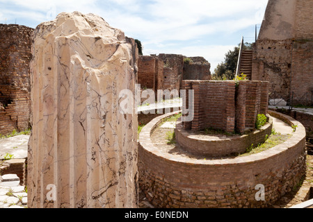 The Elliptical Nymphaeum, Domus Flavia, Palatine Hill, Rome Forum, Rome Italy Europe - Stock Photo