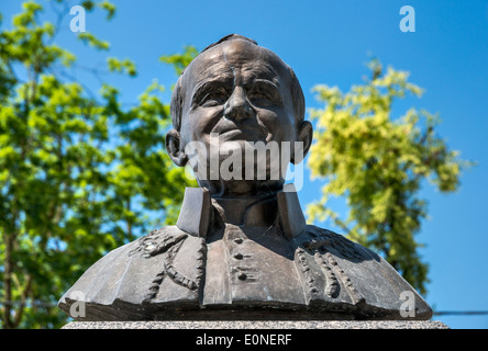 Pope John Paul II bust in Kock, Malopolska aka Lesser Poland region, Poland - Stock Photo