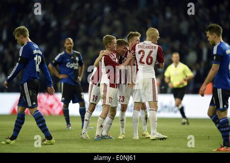 Copenhagen, Denmark. 15th May, 2014. DBU Cup final. AAB versus FC Copenhagen, finshed 4-2 to AaB. AAB celebrate - Stock Photo