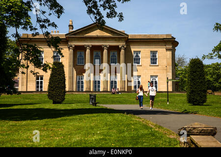The Mansion at Roundhay Park in Leeds - Stock Photo
