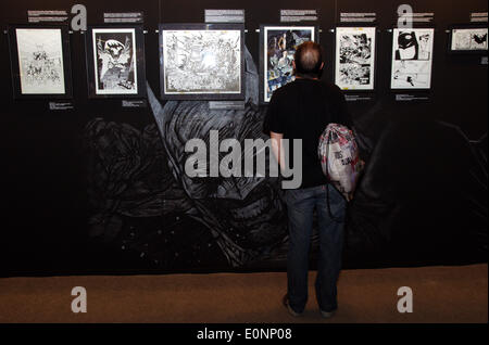 Barcelona, Spain. 17th May 2014. The 75th anniversary of Batman creation has its own exhibition in the 32th Saló - Stock Photo