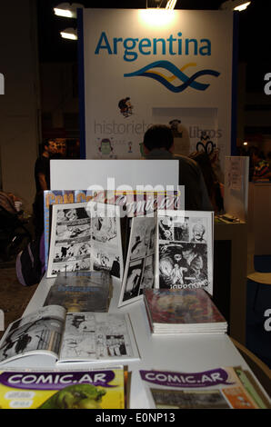 Barcelona, Spain. 17th May 2014. Argentina has been invited to the 32th Saló del Cómic of Barcelona (Spain) Credit: - Stock Photo