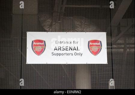 Wembley stadium, London, UK, 17 May 2014.  FA Cup Final between Arsenal FC and Hull City FC.       Credit:  Stephen - Stock Photo