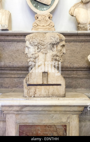Double herm of Epicurus and Metrodorus - Stock Photo
