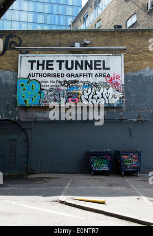 Leake Street, also known as Graffiti Tunnel underneath Waterloo Train Station, Lambeth, London, UK. - Stock Photo