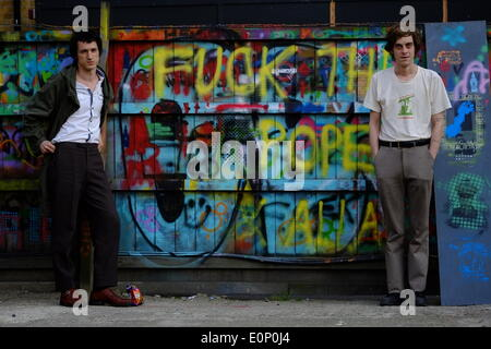 Fat White Family Lias Saoudi and Saul at the Red Gallery in Shoreditch, London. - Stock Photo