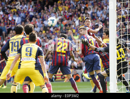 Barcelona, Spain. 17th May, 2014. corner in the match between FC Barcelona and Atletico de Madrid, for Week 38 of - Stock Photo