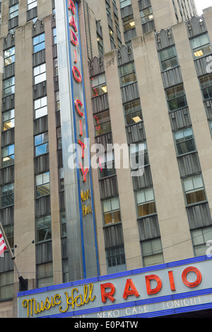Radio City Music Hall facade - Stock Photo
