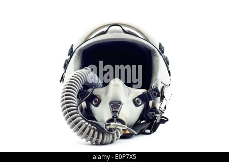 Fighter pilot flight helmet isolated. - Stock Photo