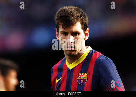 Barcelona, Spain. 17th May, 2014. Messi during the spanish league match between FC. Barcelona and Atletico de Madrid - Stock Photo