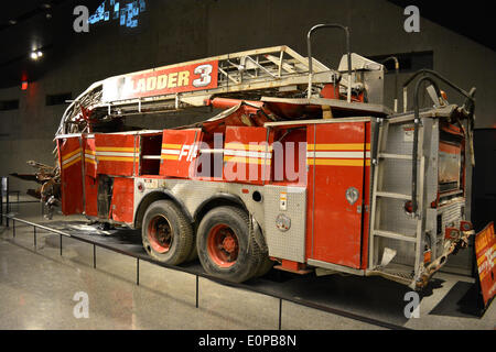 New York, NY, USA. 16th May, 2014. FDNY fire engine on display at the newly opened 9/11 Museum at Ground Zero in New York City. Credit:  Christopher Penler/Alamy Live News