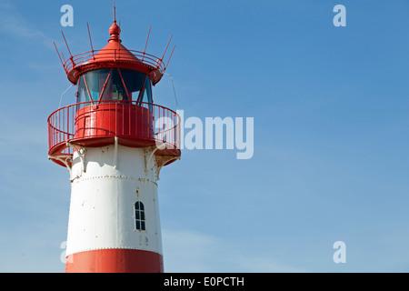 lighthouse ostfeuer on the island of sylt near list, germany - Stock Photo