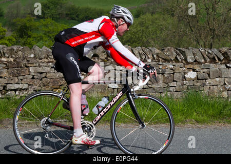 The Etape du Dales is a cyclosportive held in May each year, in the Yorkshire Dales in the UK.  It was originally - Stock Photo