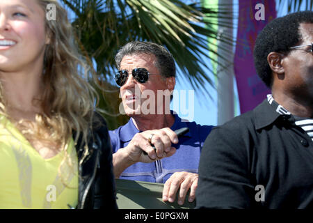 Actor Sylvester Stallone attends the photocall of 'Expandables 3' during the 67th Cannes International Film Festival - Stock Photo