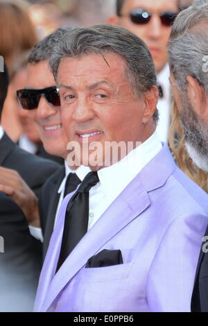 May 18, 2014 - Cannes, France - CANNES, FRANCE - MAY 18: Sylvester Stallone attends 'Expendables 3' Premiere at - Stock Photo