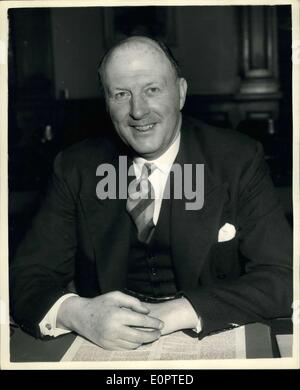 Feb. 08, 1957 - Sir Frederick Hoyer Millar Take up New Post As Chief Of The Foreign Office: Sir Federick Hoyer Millar - Stock Photo