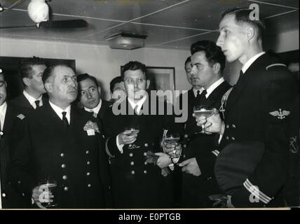 Dec. 12, 1956 - Captains Courageous: Admiral Barjot Of The French Navy (Who Commanded The Naval Operations In Egypt) - Stock Photo