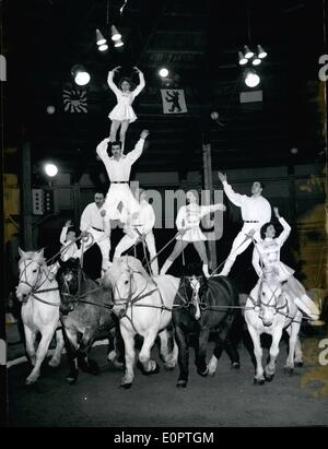 Dec. 12, 1956 - International Circus for Christmas: A great international program shows the Swiss National Circus - Stock Photo