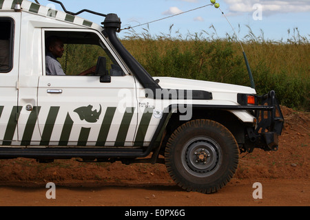 Offroad driving during a Safari in Kenya - Stock Photo