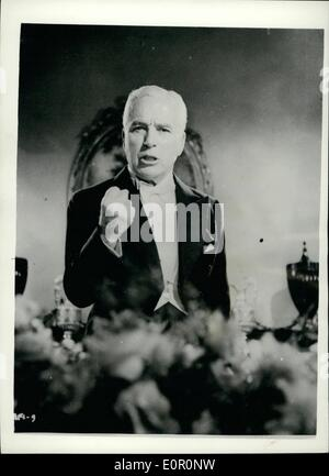 Aug. 08, 1957 - Scenes From Charlie Chaplin's Film ''A King In New York'' ''A King In New York'' - the top secret - Stock Photo