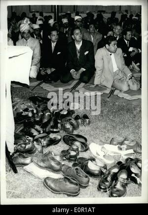 Aug. 08, 1957 - Festival Of Id Al Adha at Woking Mosque The Festival Of Id Al Adha was held this morning at the - Stock Photo