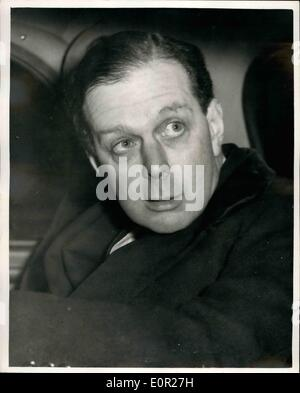 Dec. 12, 1957 - Inquiry into the alleged bank rate leakage opens, Oliver Poole leaves: The Parker Tribunal probe - Stock Photo