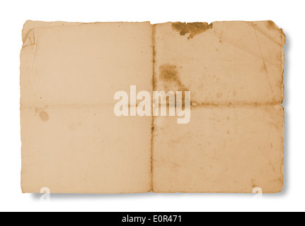Dirty old parchment with spots and stripes - Stock Photo