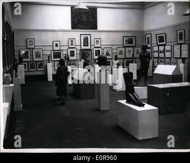 Oct. 10, 1958 - Exhibition Of German Graphic Art And Sculpture In London: For the first time in this country-an - Stock Photo