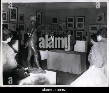 Oct. 10, 1958 - Opening Of The Contemporary German Graphic Art And Sculpture In London: For the first time in this - Stock Photo