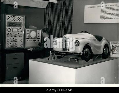 Nov. 11, 1958 - Lord Mayor Opens Electronic Computer Exhibition: The Lord Mayor of London Sir Harold Gillett this - Stock Photo
